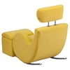 Hercules Series Fabric Rocking Chair - Storage Ottoman, Yellow - FLSH-LD-2025-YL-GG
