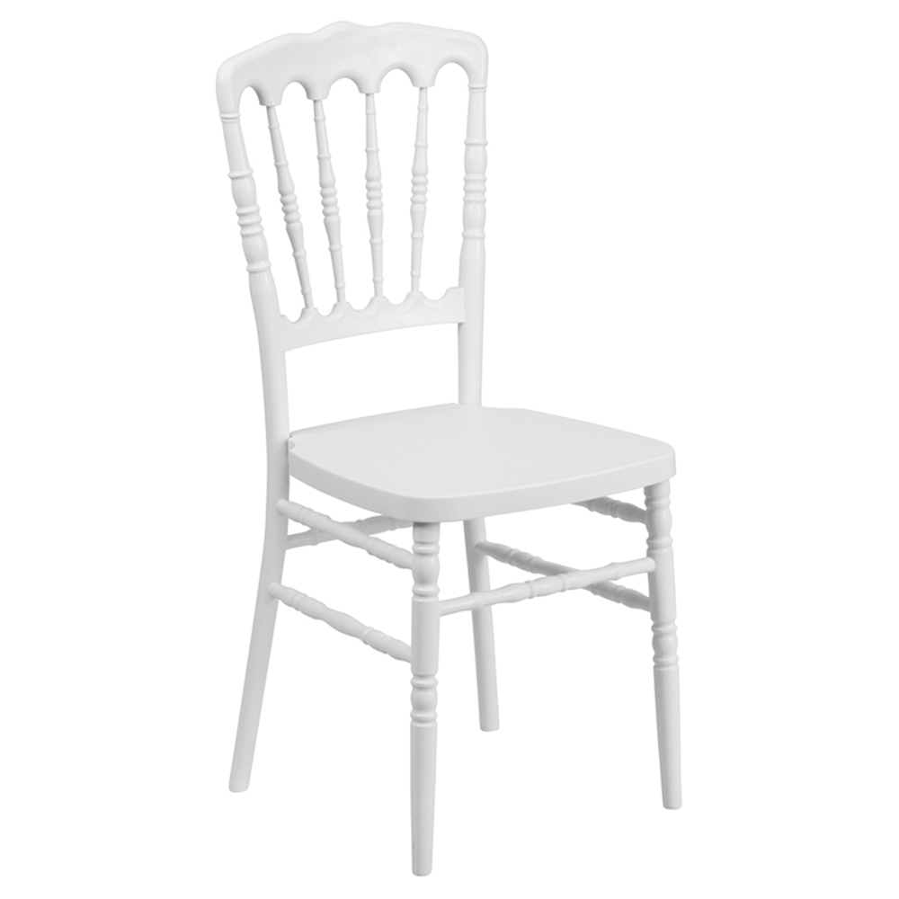 Hercules series resin stacking napoleon chair white dcg stores - White resin stacking chairs ...