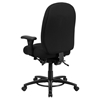 Hercules Series Big and Tall Swivel Chair - Multi Functional, Black - FLSH-LQ-1-BK-GG