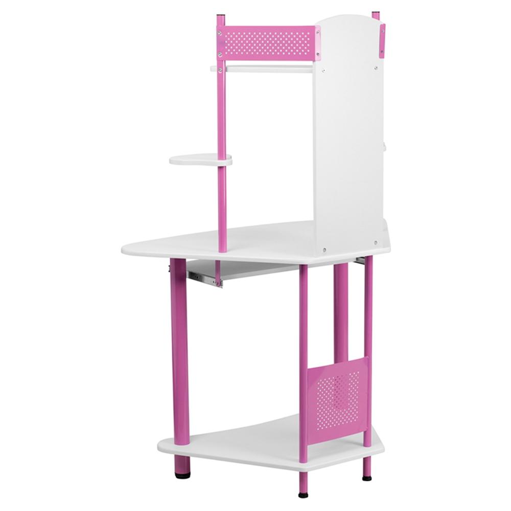 Corner Computer Desk Hutch Pink Dcg Stores