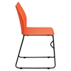 Hercules Series Stack Chair - Air Vent Back, Sled Base, Orange - FLSH-RUT-498A-ORANGE-GG