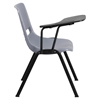 Shell Chair - Right Handed Flip Up Tablet Arm, Gray - FLSH-RUT-EO1-GY-RTAB-GG