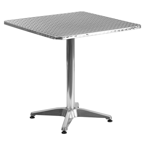 "27.5"" Square Bistro Table - Aluminum"
