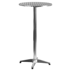 "25.5"" Round Bar Table - Aluminum, Folding"