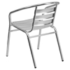 "3 Pieces 27.5"" Square Dining Set - Aluminum, Slat Chairs - FLSH-TLH-ALUM-28SQ-017BCHR2-GG"