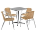 "23.5"" Square Bistro Table - Aluminum - FLSH-TLH-053-1-GG"