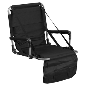 Folding Stadium Chair - Black