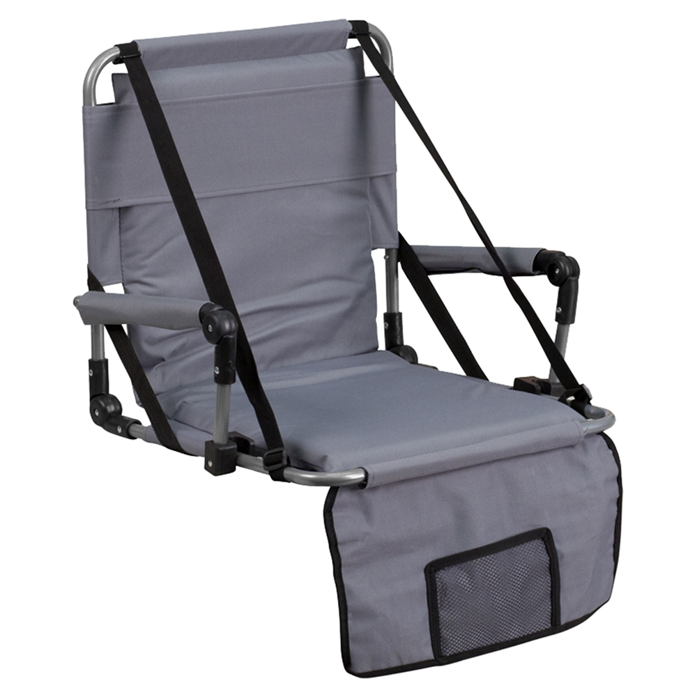 Folding Stadium Chair Gray Dcg Stores