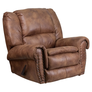Breathable Comfort Padre Rocker Recliner - Nailhead, Almond