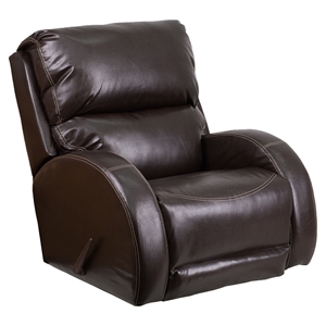 Ty Leather Rocker Recliner - Brown