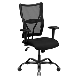 Hercules Series Executive Swivel Office Chair - Height Adjustable, Black