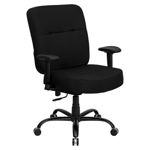 Hercules Series Big and Tall Executive Office Chair - Black, Swivel
