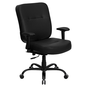 Hercules Series Big and Tall Executive Office Chair - with Arms, Black