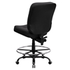 Hercules Series Big and Tall Drafting Chair - Black, Leather - FLSH-WL-735SYG-BK-LEA-D-GG