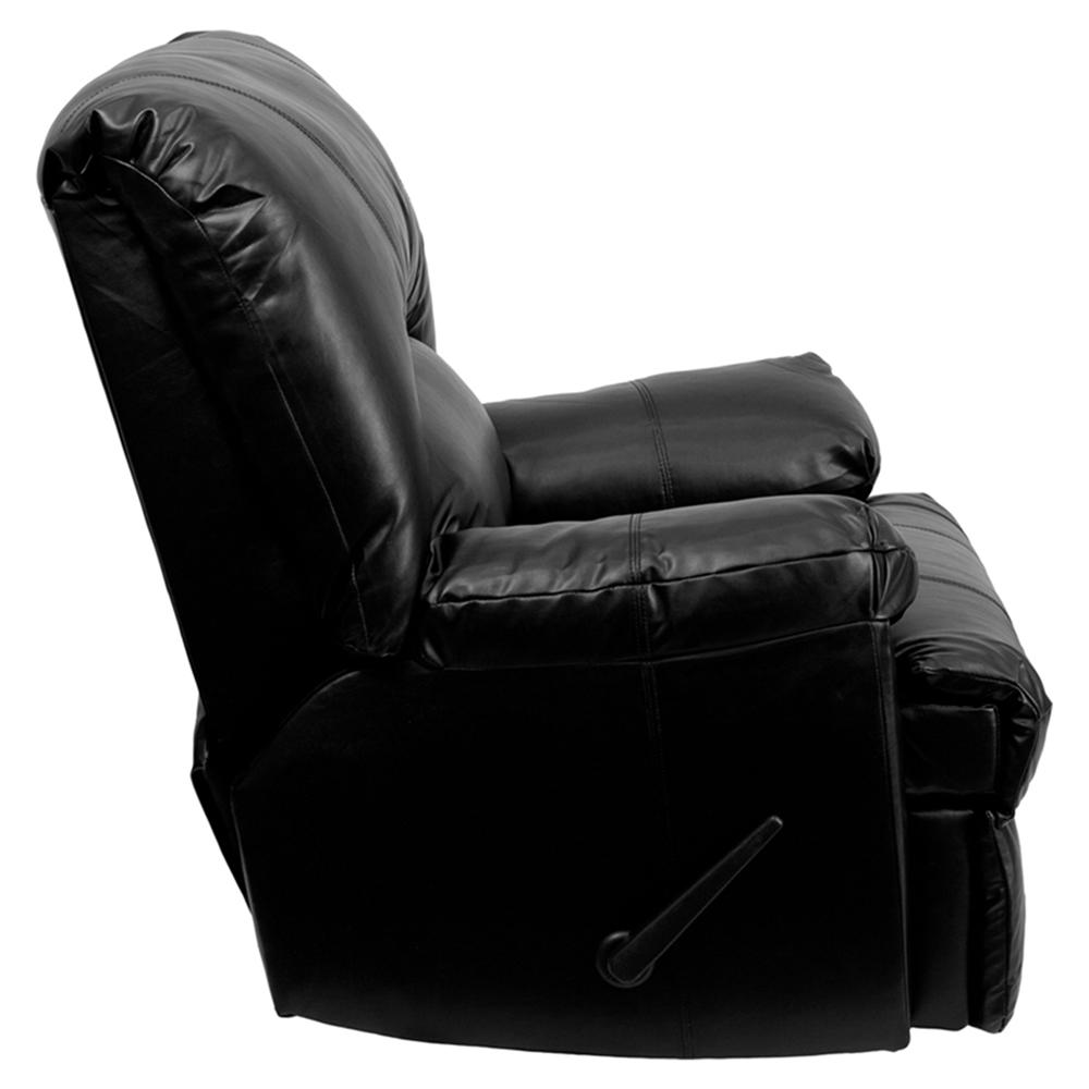 Apache Leather Recliner Black Rocker Dcg Stores