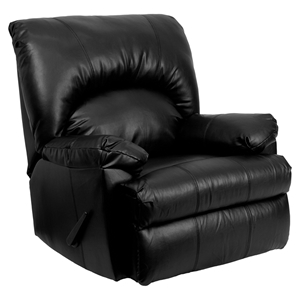 Apache Leather Recliner - Black, Rocker