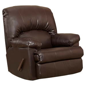 Ty Leather Recliner - Chocolate, Rocker