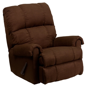 Flatsuede Microfiber Rocker Recline - Chocolate