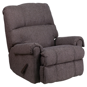 Couger Chenille Rocker Recliner - Gray