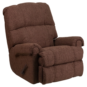 Couger Chenille Rocker Recliner - Chocolate