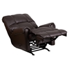 Ty Leather Recliner with Rolled Arms - Chocolate, Rocker - FLSH-WM-8700-620-GG