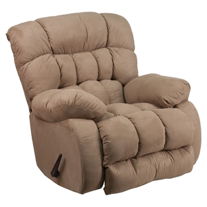 Softsuede Microfiber Recliner - Rocker, Taupe