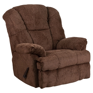 Hillel Chenille Rocker Recliner - Chocolate