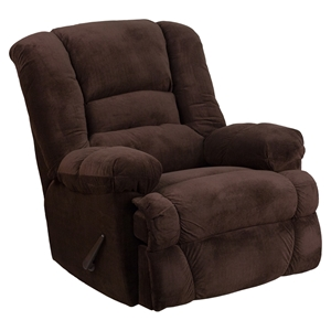 Dynasty Microfiber Rocker Recliner - Chocolate