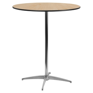 "36"" Round Wood Cocktail Table - Natural"
