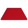 "Mobile 24"" x 48"" Trapezoid Activity Table - Red Top, Adjustable Legs - FLSH-XU-A2448-TRAP-RED-H-A-CAS-GG"