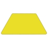 "24"" x 48"" Trapezoid Activity Table - Yellow Top, Adjustable Legs - FLSH-XU-A2448-TRAP-YEL-H-A-GG"