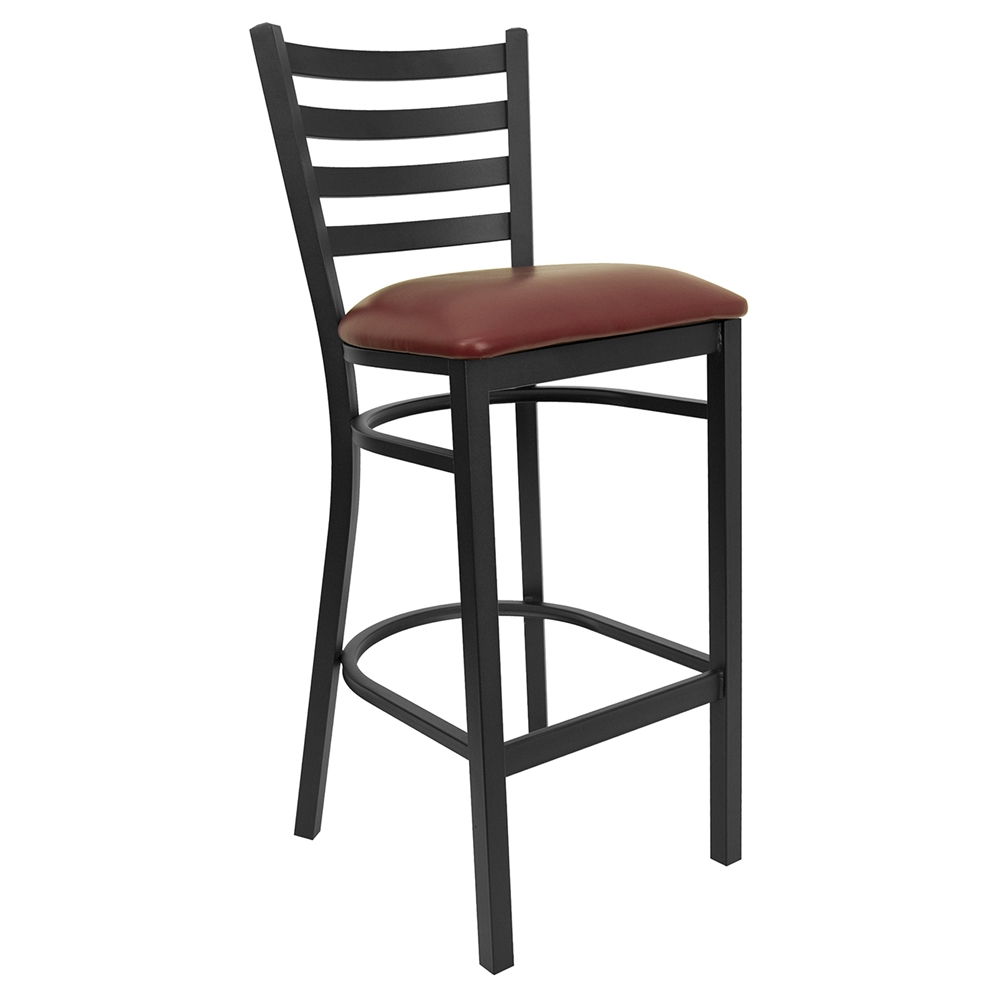 Hercules Series Metal Restaurant Barstool Black