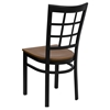 Hercules Series Side Chair - Black, Cherry, Window Back - FLSH-XU-DG6Q3BWIN-CHYW-GG