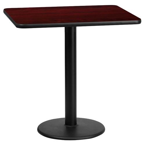 24quot x 30quot Rectangular Dining Table Black Mahogany  : xu mahtb 2430 tr18 gg from www.dcgstores.com size 500 x 500 jpeg 46kB