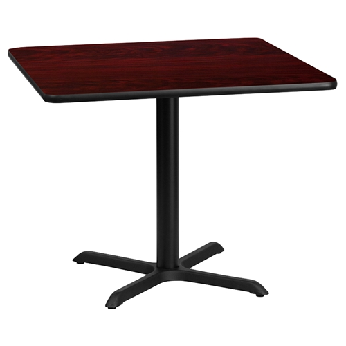 36quot Square Dining Table Black Mahogany Pedestal Base  : xu mahtb 3636 t3030 gg from www.dcgstores.com size 500 x 500 jpeg 46kB