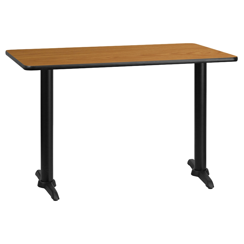 "48 Square Dining Room Table: 30"" X 48"" Rectangular Dining Table - Black, Natural"