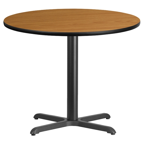 36 quot round dining table natural top pedestal base dcg