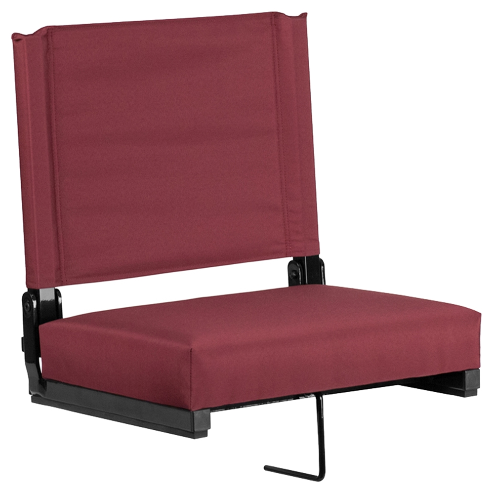 Stadium Chair Ultra Padded Seats Maroon Dcg Stores