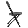 Kids Plastic Folding Chair - Black - FLSH-Y-KID-BK-GG