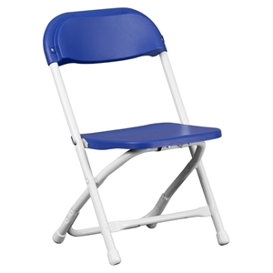Kids Plastic Folding Chair - Blue