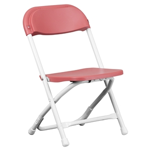 Kids Plastic Folding Chair - Burgundy