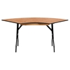 "30"" x 48"" Serpentine Banquet Table - Folding, Natural - FLSH-YT-WSFT48-30-SP-GG"