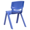 "Stackable School Chair - 12"" Seat Height, Blue - FLSH-YU-YCX-001-BLUE-GG"