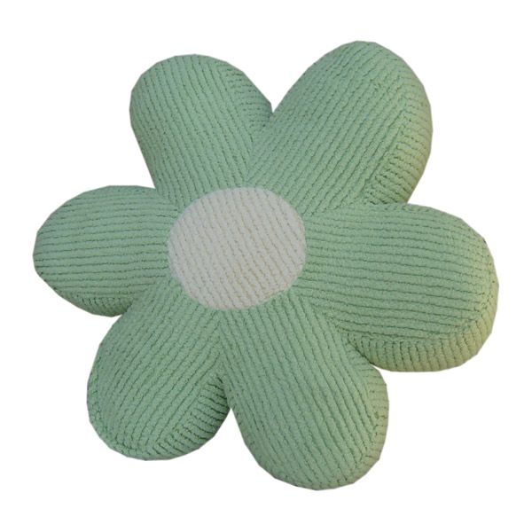Daisy Pillow in Chenille Green