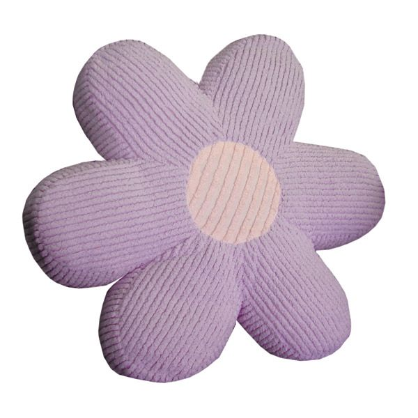 Daisy Pillow in Chenille Lilac