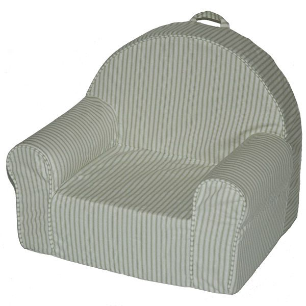 Kid%27s My First Chair in Green Stripe
