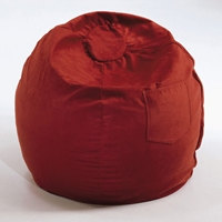 Small Beanbag in Red Micro Suede