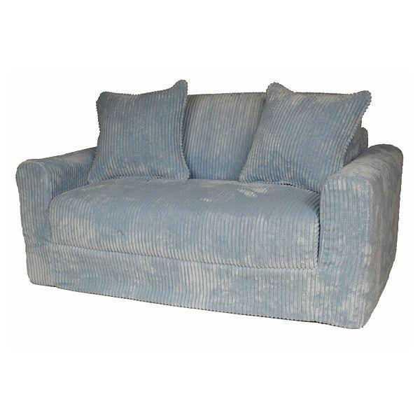 Baby Blue Sofa : Kids Sofa Sleeper in Blue Chenille  DCG Stores