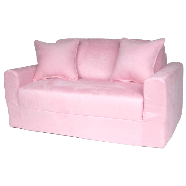 Kids Sofa Sleeper in Pink Micro Suede | DCG Stores