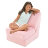 Teen Chair Sleeper in Pink Micro Suede - FUN-TC-SLEEPER-PM